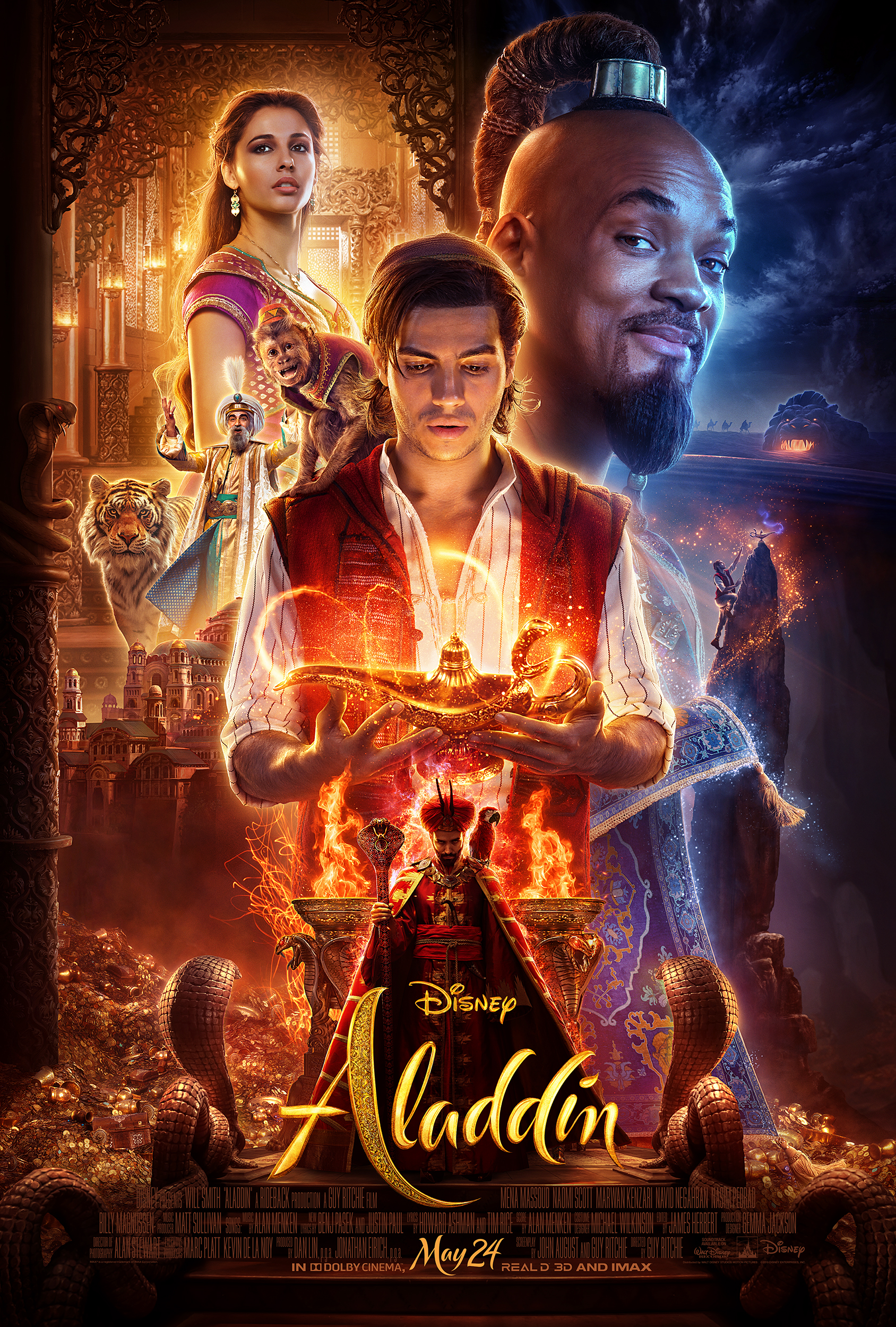 Take a look at the new theatrical poster for Disney's upcoming live action film, Aladdin!