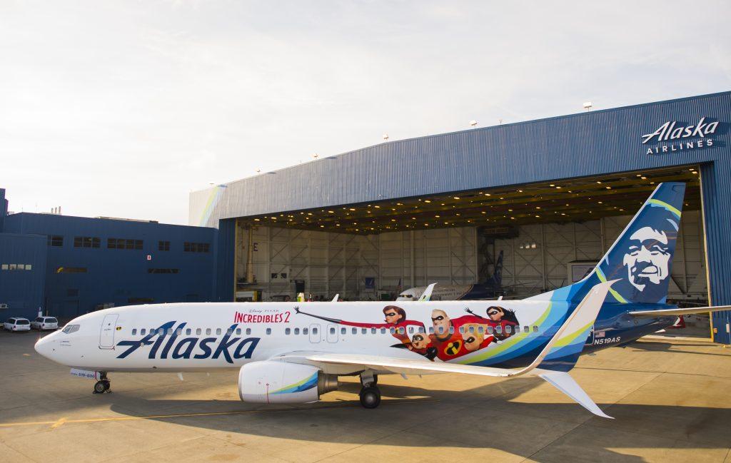 Alaska Airlines Incredibles 2 Plane