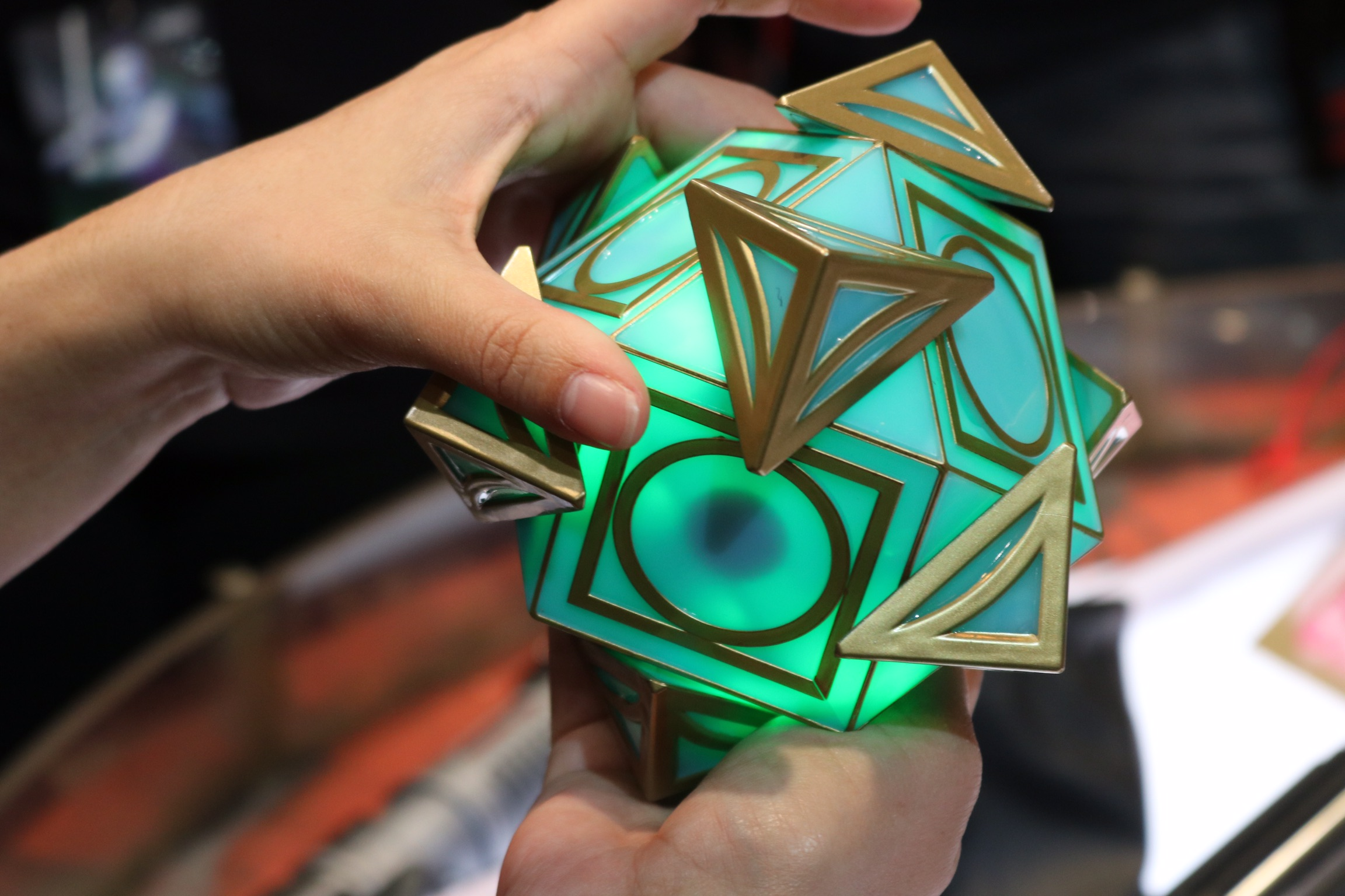 The holocron will glow based off the color of the chosen crystal, unlocking special messages, including famous Jedi such as Master Yoda.