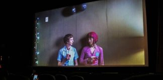 """""""I'll leave you alone forever now"""" Fans getting a look at the awkward fun of Scott Pilgrim (Michael Cera) and Ramona Flowers (Mary Elizabeth Winstead)"""