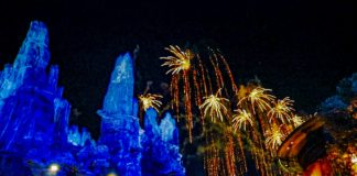 Disneyland's Fireworks over Galaxy's Edge