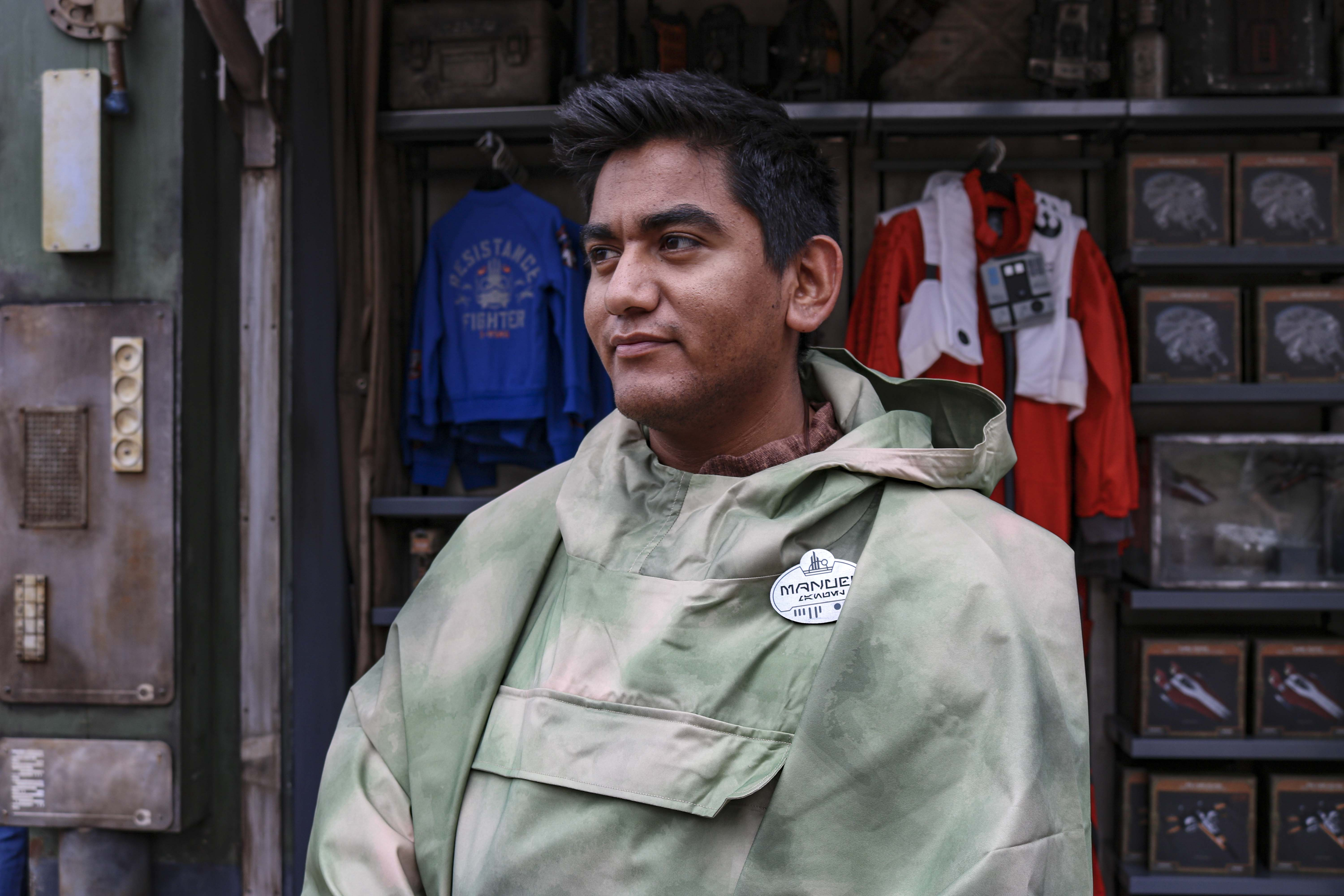The Rebellion is remembered in this all weather costume accessory that has made its first appearance in Star Wars: Galaxy's Edge.